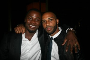 Sparkle NY afterparty - Derek Luke and Omari Hardwick