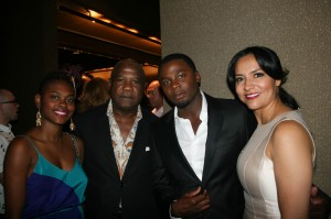 Sparkle NY afterparty - Isiah Whitlock Jr., Derek Luke, Sophia Luke