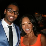 Sparkle NY afterparty - Olympic medalist Cullen Jones and Debra Martin Chase