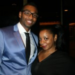 Sparkle NY afterparty - Olympic medalist Cullen Jones and publicist Simone Smalls