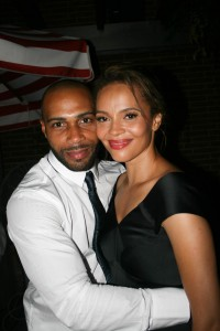Sparkle NY afterparty - Omari Hardwick and Carmen Ejogo