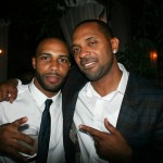 Sparkle NY afterparty - Omari Hardwick and Mike Epps