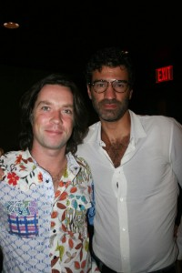Sparkle NY afterparty - Rufus Wainwright and friend