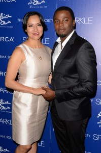 Sparkle screening - Derek Luke and wife Sophia Luke 2