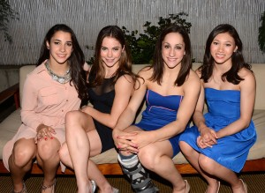 Sparkle screening - Olympic Gymnastic team Aly Raisman, McKayla Maroney, Jordyn Wieber, Kyla Ross