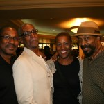 Film critic Tim Gordon, Thomas Jefferson Byrd, Portia Badham, and Anthony Chisholm