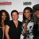 Mara Brock Akil, BET's Debra Lee, Gabrielle Union, Tika Sumpter