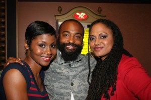 Middle of Nowhere's Emayatzy Corinealdi, cinematographer Bradford Young, director Ava Duvernay