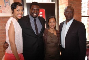 Tracey Heggins, Stephen Hill, Urbanworld's Gabrielle Glore and Stacy Spikes