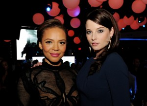 Alex Cross afterparty - Carmen Ejogo and Rachel Nichols