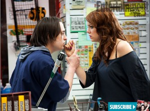 Movie 43 - Kieran Culkin and Emma Stone