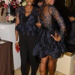 Steel Magnolias Premiere Afterparty - Project Runway contestant Kimberly Goldson and actress Condola Rashad