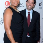 Steel Magnolias Premiere - Queen Latifah and Executive VP of programming, Lifetime Networks Rob Sharenow