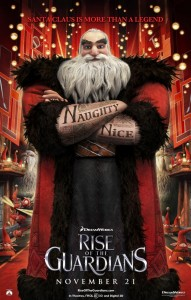 Rise of the Guardians Santa Claus poster