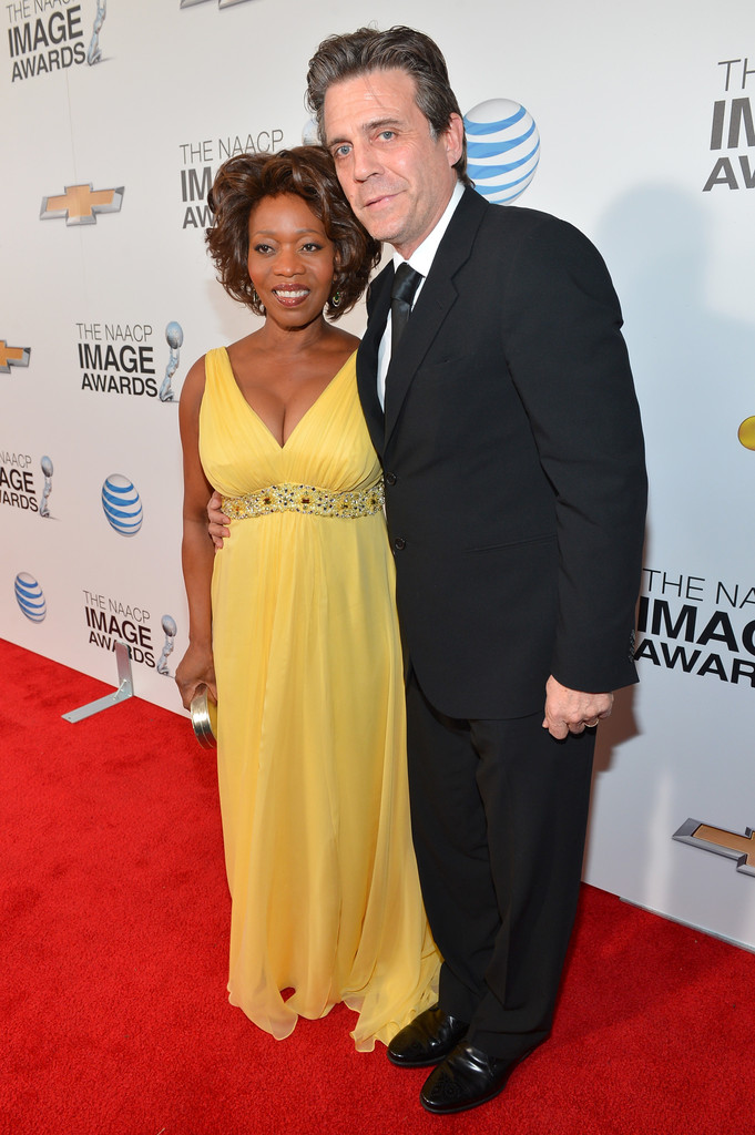 Alfre Woodard and husband