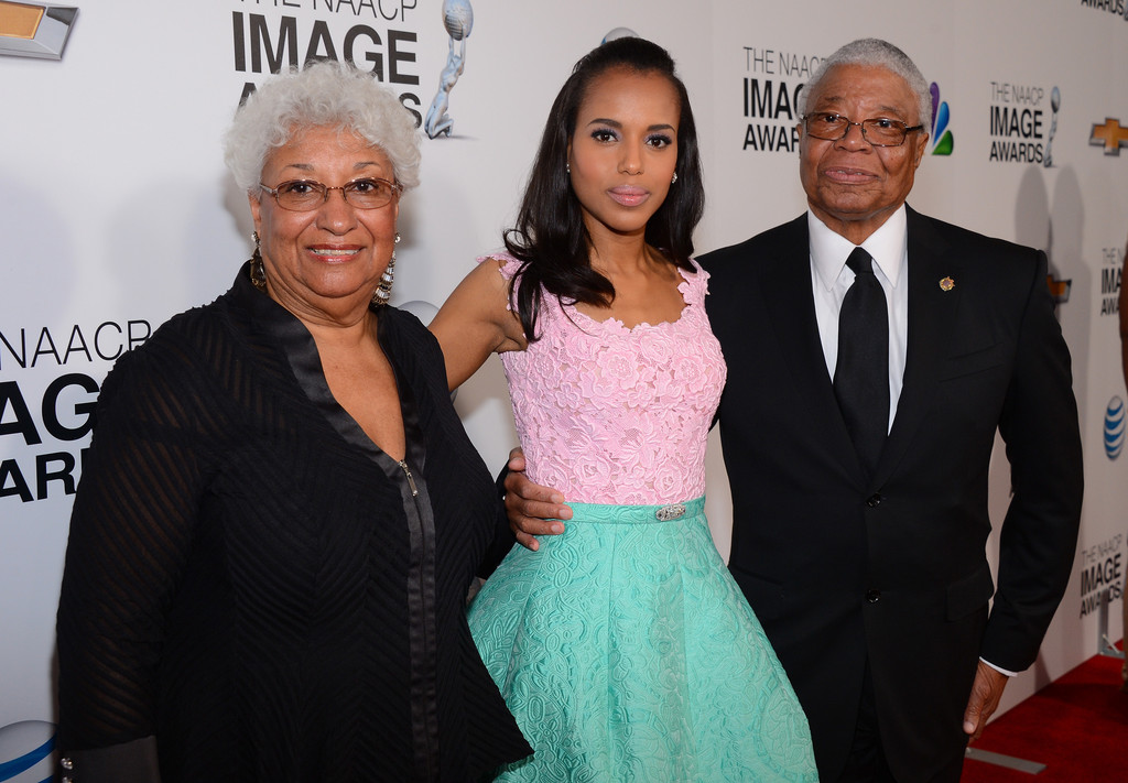 NAACP 44th Image Awards – Kerry Washington and her parents Earl and