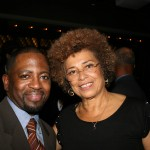 Blackfilm.com Editor Wilson Morales and Angela Davis