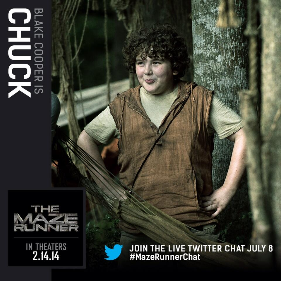 the maze runner character cards blake cooper as chuck
