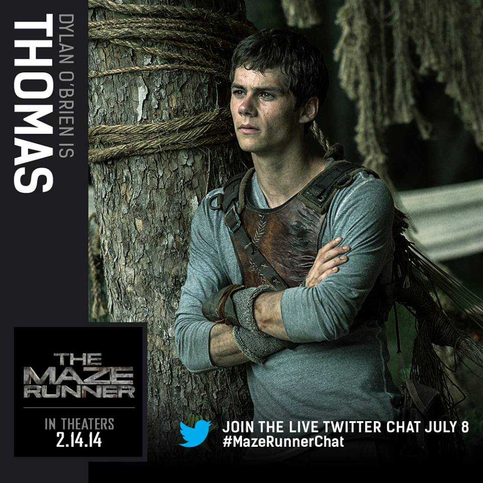 The Maze Runner character cards - Dylan O'Brien as Thomas ...