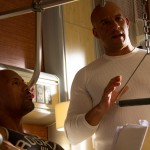 Fast 7 set pic - Dwayne Johnson and Vin Diesel