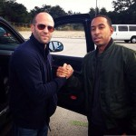 Fast 7 set pic - Jason Statham and Ludacris