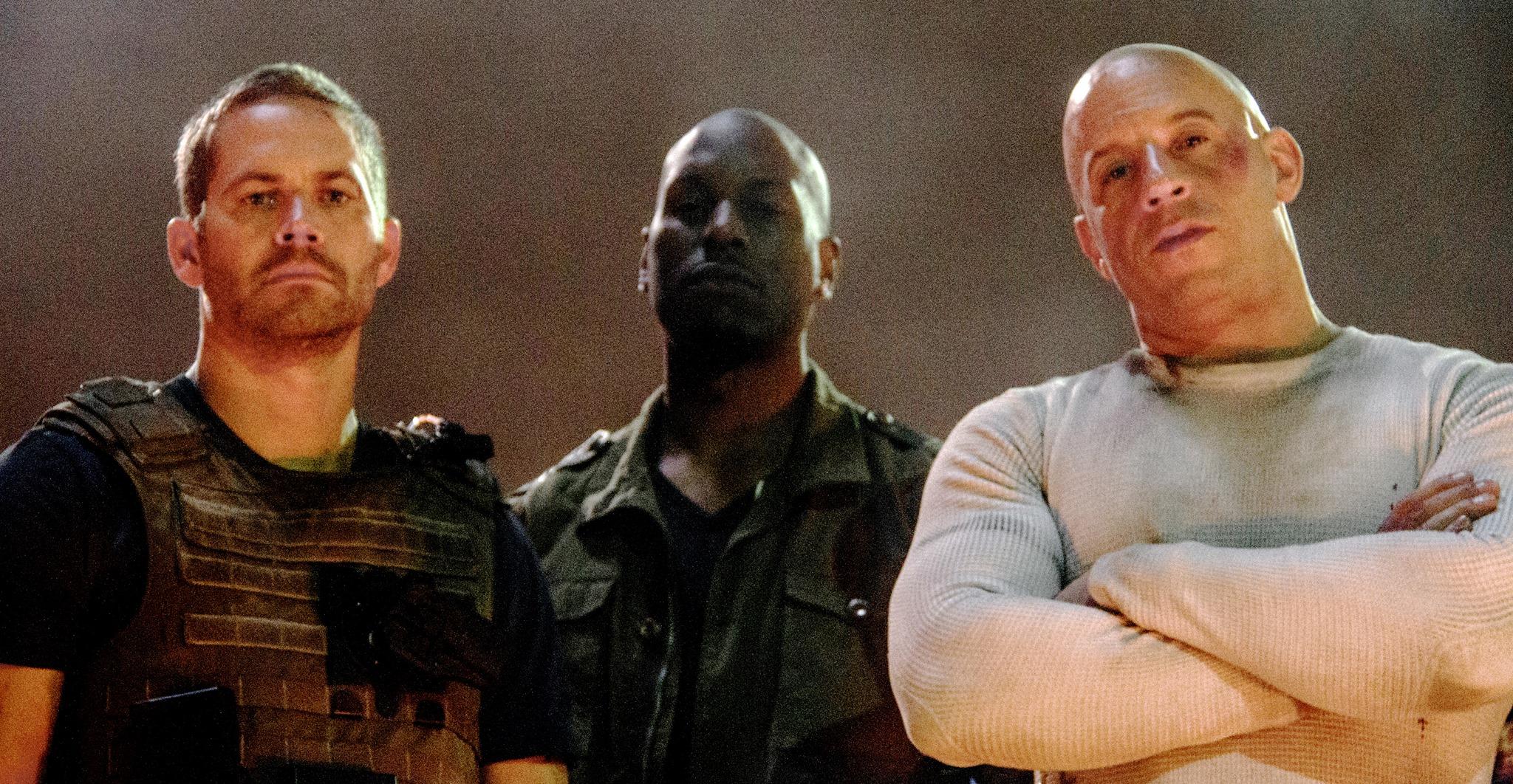 Fast 7 set pic - Paul Walker, Tyrese Gibson, Vin Diesel - blackfilm ...