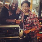 Fast 7 set pic - Tyrese and James Wan