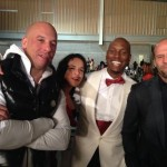 Fast 7 set pic - Vin Diesel,Michelle Rodriguez, Tyrese and Jason Statham