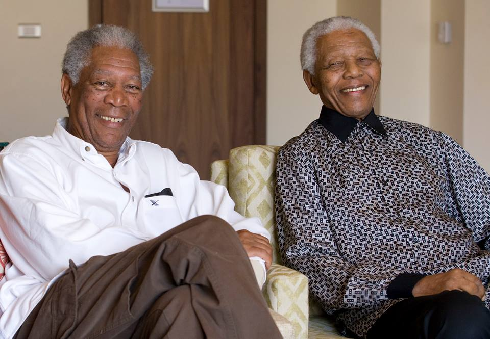 Morgan Freeman shares his memories of Nelson Mandela ...