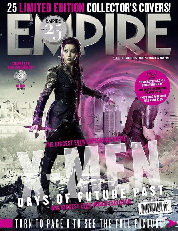 Empire Mag Days of Future Past cover - Fan Bingbing as ... X Men Days Of Future Past Empire Covers
