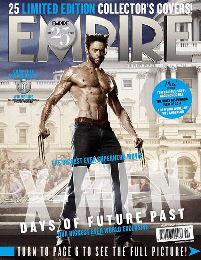 Empire Mag Days of Future Past cover - Hugh Jackman as ... X Men Days Of Future Past Empire Covers