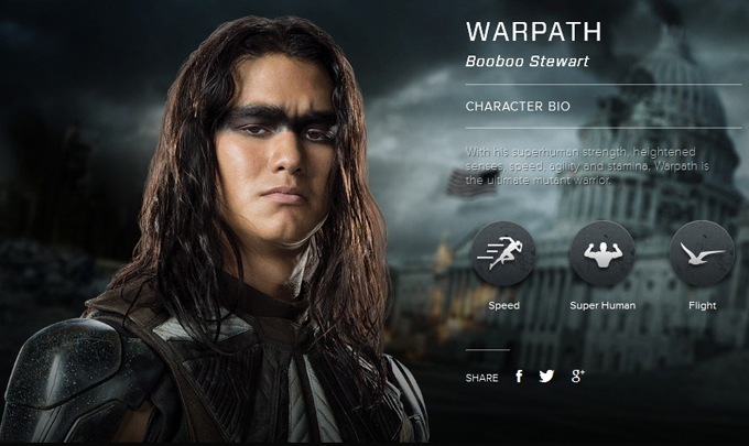 Men Days of Future Past character bio     Booboo Stewart as WarpathX Men Warpath Booboo Stewart