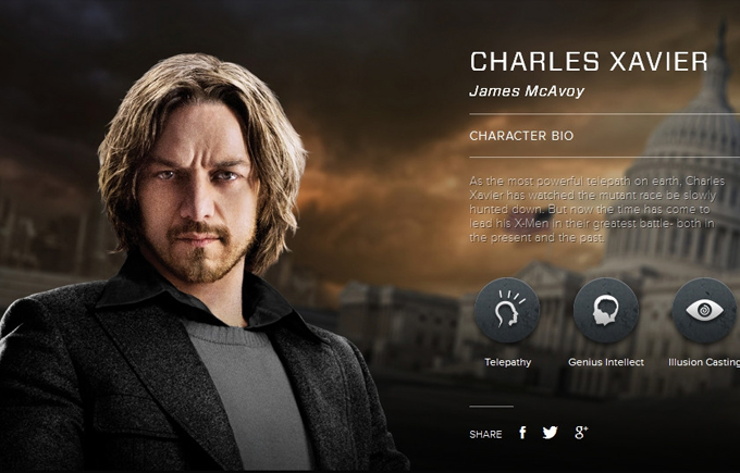 X-Men Days of Future Past character bio - James McAvoy as ...