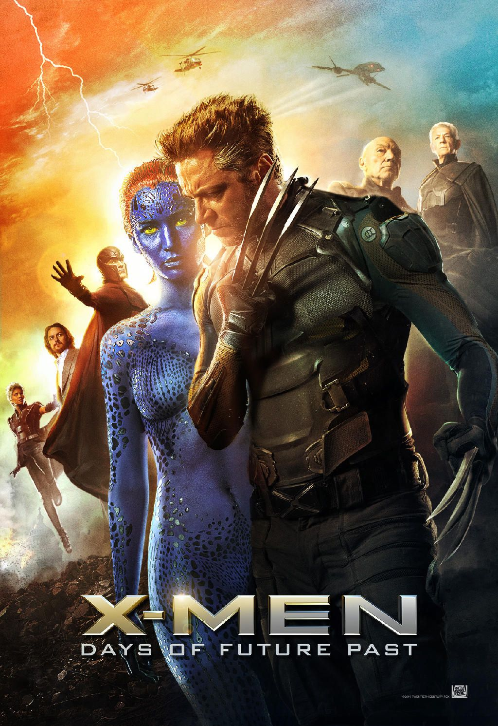 xmen days of future past poster storm prof x magneto