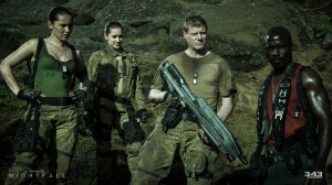 Halo Nightfall Mike Colter, Christina Chong and field team
