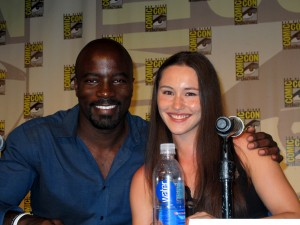 SDCC 2014 Halo Nightfall Mike Colter and Christina Chong