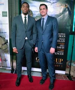 Tate Taylor and Chadwick Boseman