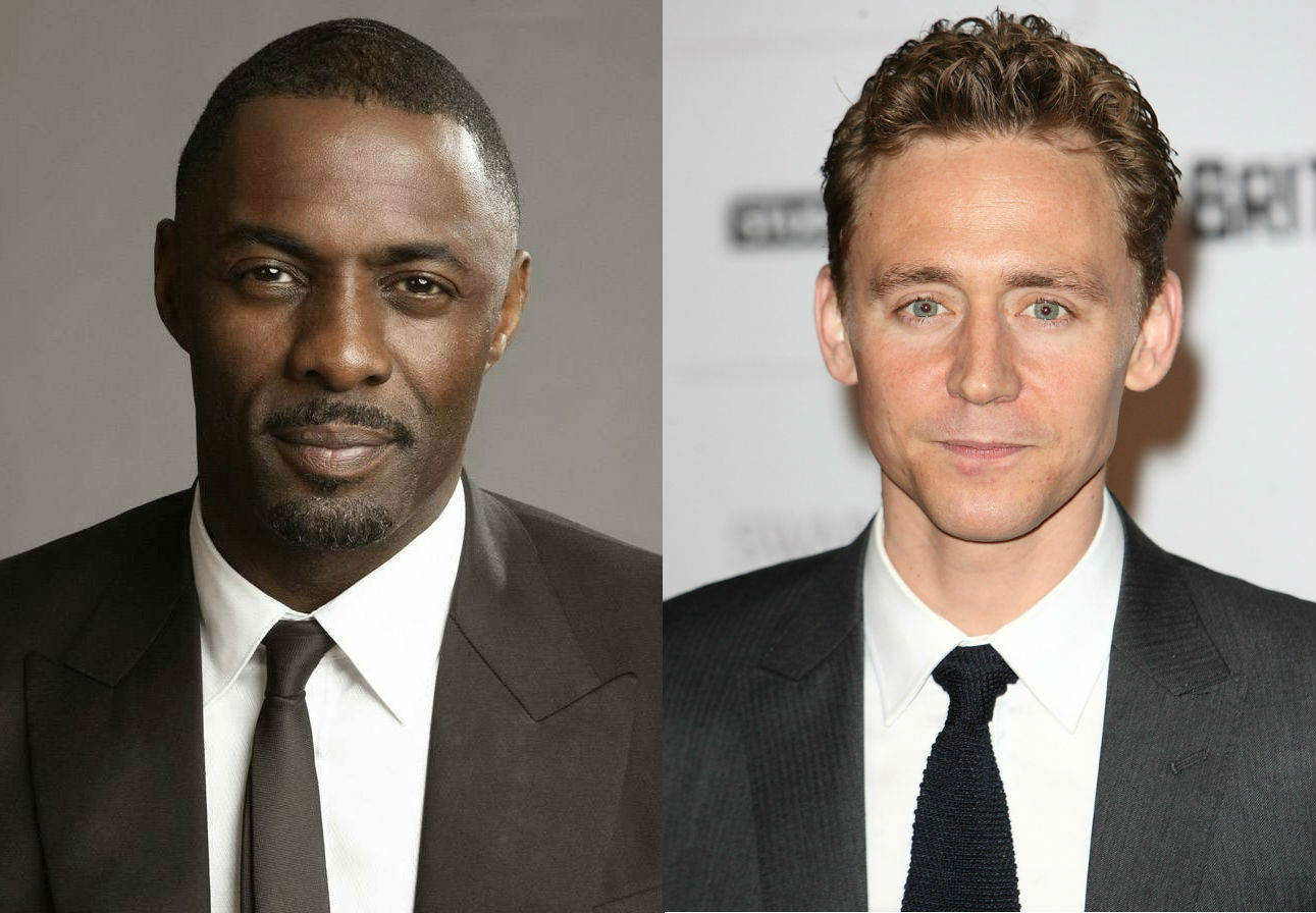 Resultado de imagem para idris elba and tom hiddleston