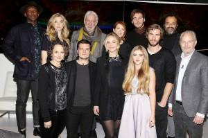 Mockingjay Part 1 NY Press Conference Official Cast Pic