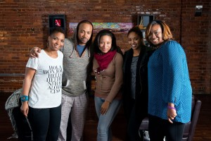 The End Again - producer Felicia Pride, Colmbus Short, director Crystle C. Roberson, Tanee-Short and producer Latisha Fortune