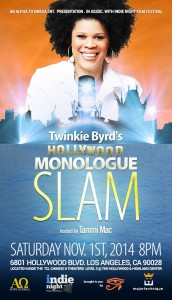 Twinkie Byrd Hollywood Monologue Slam poster