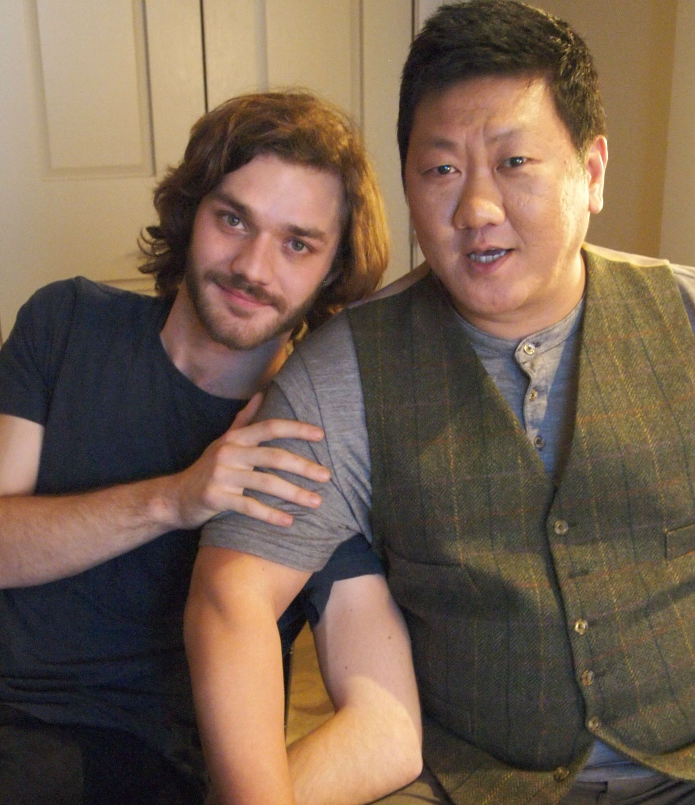 Photo of Lorenzo Richelmy & his friend  Benedict Wong