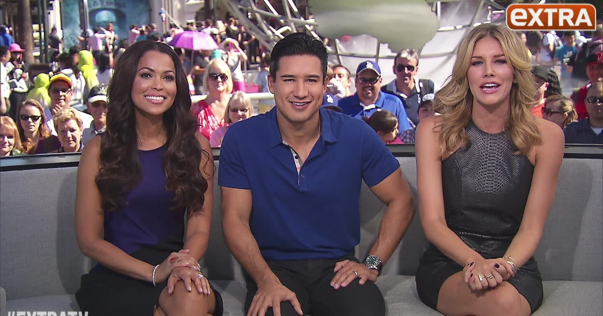 Photo of Charissa Thompson & her friend tv-personality  Mario Lopez  -