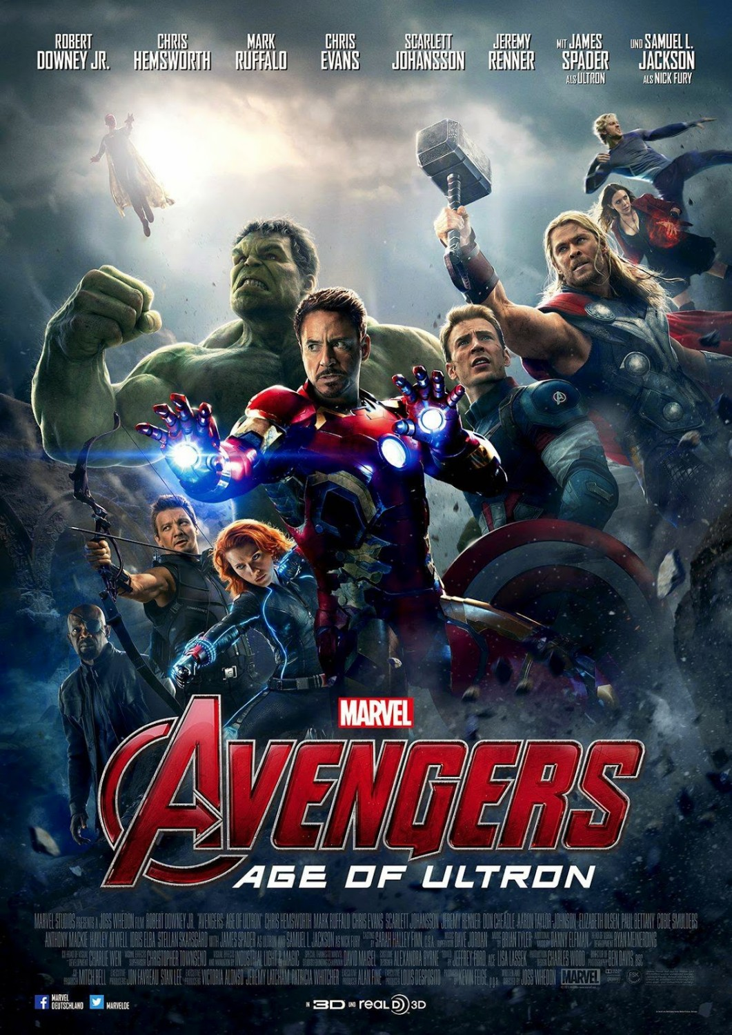 Avengers Age of Ultron official poster 2 - blackfilm.com ...