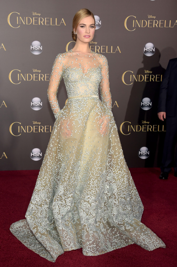 Cinderella Hollywood Premiere Lily James 4 Blackfilm
