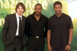 Ethan Hawke Antoine Fuqua and Denzel Washington
