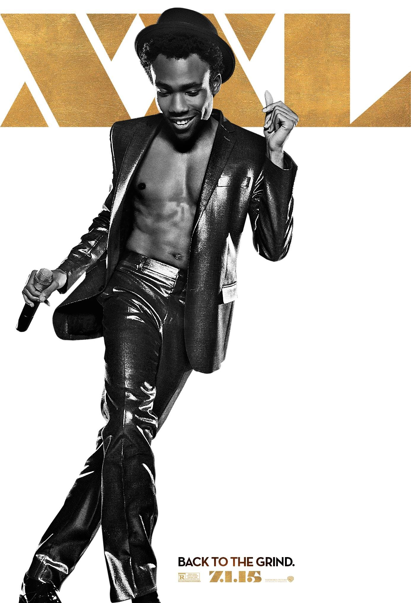 magic mike xxl poster donald glover. Black Bedroom Furniture Sets. Home Design Ideas