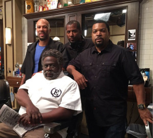 Barbershop 3 Ice Cube Common Malcolm D. Lee and Cedric the Entertainer 1