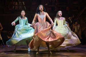 Hamilton - Phillipa Soo, Renée Elise Goldsberry, and Jasmine Cephas Jones