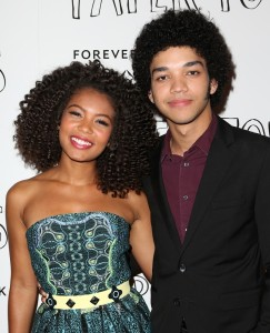 Jaz Sinclair and Justice Smith from Paper Towns